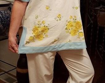 Art Deco Me Ladies' Vintage Lounging Pajamas Pattern Tunic length top drawstring pants cropped length