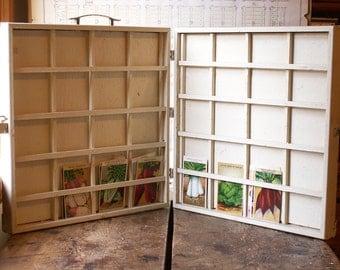 Vintage Handmade Handmade Toastmasters Display Box - Place Card Holder - Jewelry Display