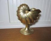 Large Brass Nautilus Shell Vase, Brass Planter, Home Decor, Wedding, Staging, Hollywood Regency