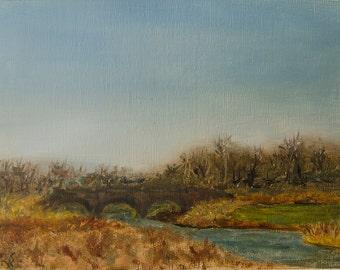Plein Air Carmel Park Landscape Oil Painting