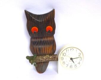 Vintage KITSCH CEDAR OWL