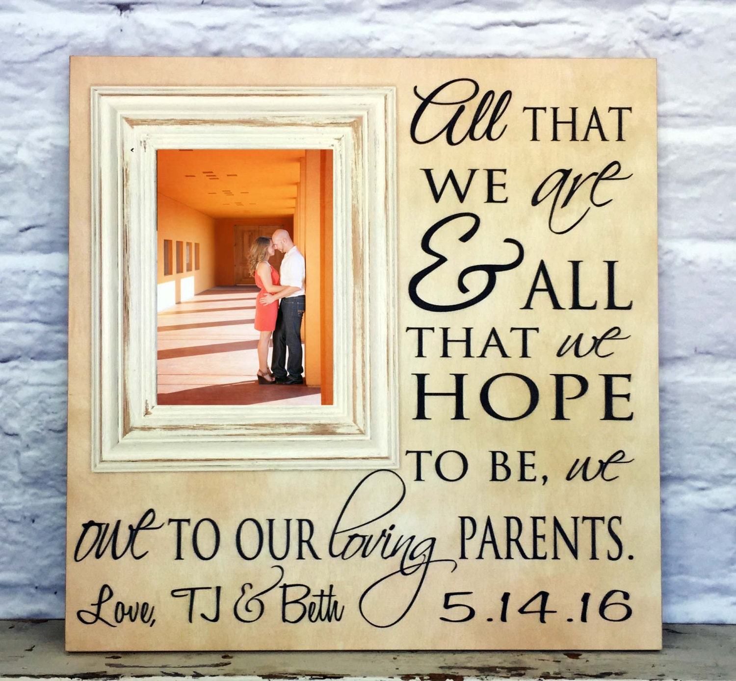 Gifts For Parents Wedding Thank You: Parents Wedding Gift Thank You Gift For Parents By