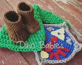 Link Newborn Photography Set Hyrule Shield, Hat and Boots