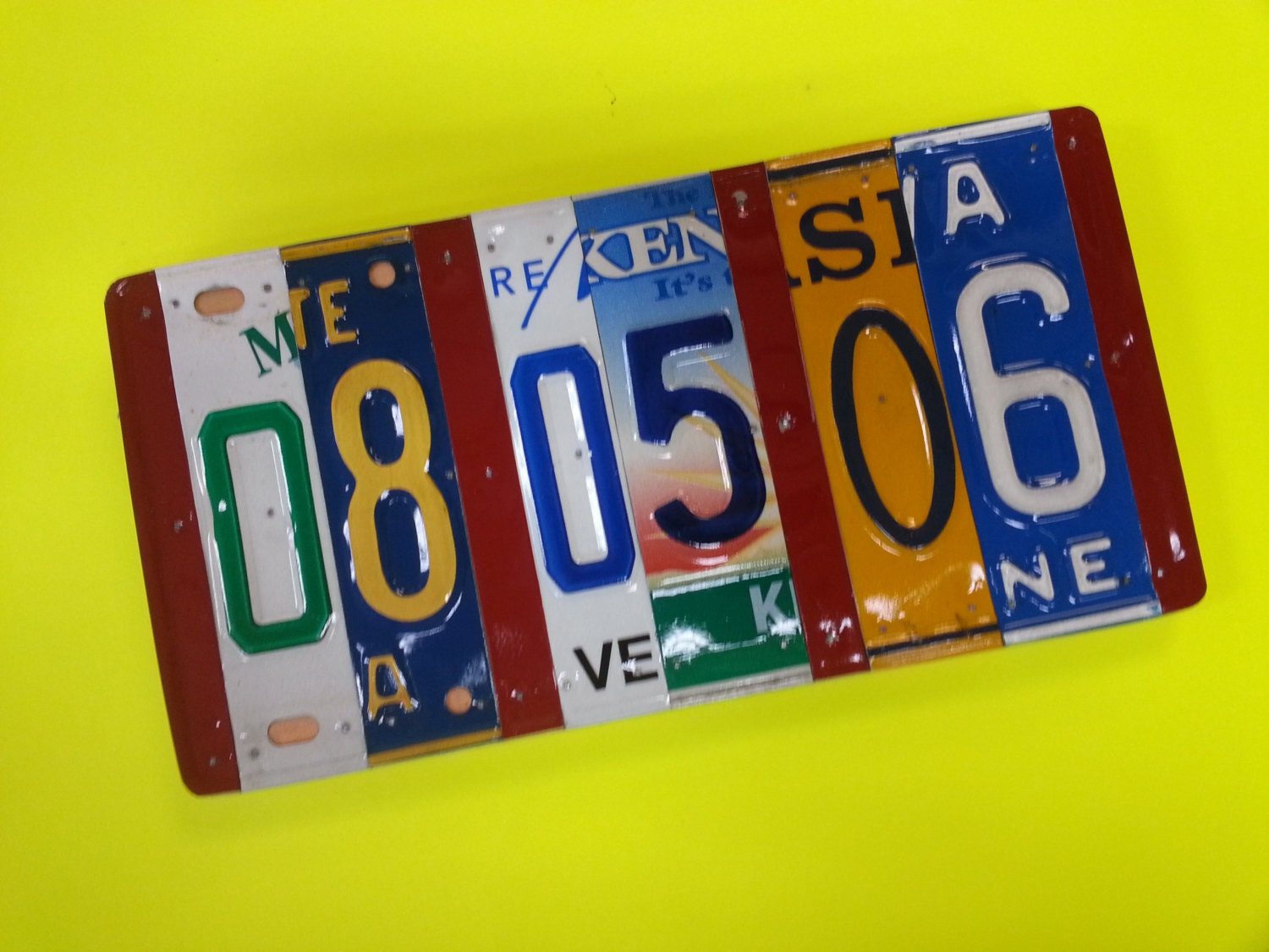 Pick the states license plate sign, 10 year anniversary gift ...