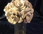 Harry Potter Book Page Roses Wedding Bouquet