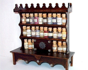 Magical Apothecary Cabinet, Medieval Dollhouse Miniature 1:12 Scale