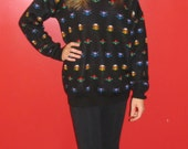 Tiptoe Through the Tulips In This Retro Sweater - Large