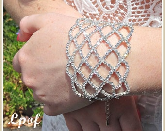 Weddings Bracelet Bridal Accessories Bridal Jewelry Chain Bracelet Bridal Bracelet - Annette Silver Bracelet