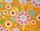 Madhuri Orange Large Funky Floral | Riley Blake Designs | 1/4 yard