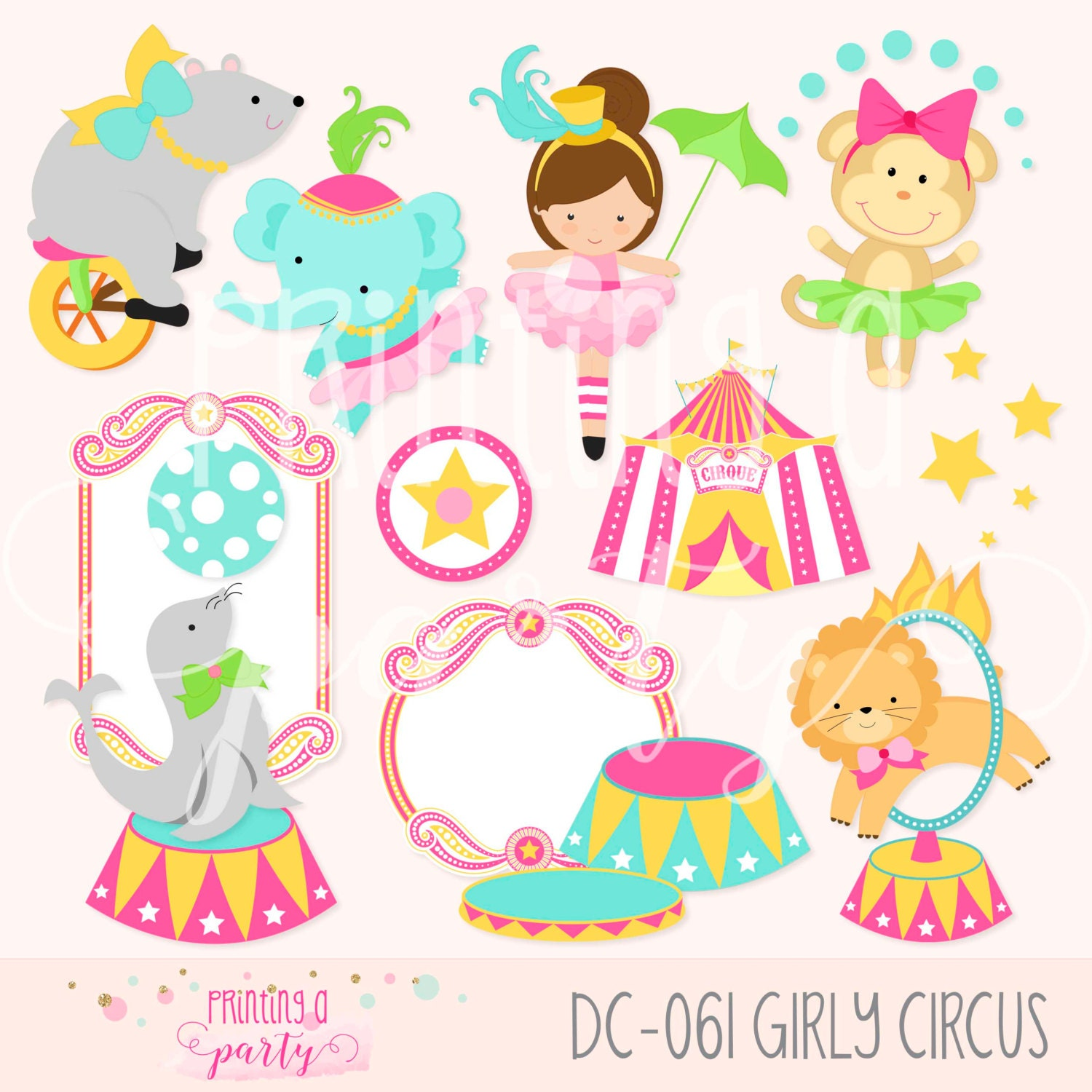 "Items similar to Gothic Circus Girl 8.5"" x 11"" Art Print ... 