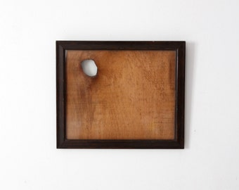 vintage wood frame, wall hanging frame with rustic wood back