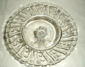 Glass Cake Stand, Crystal, Smaller Size