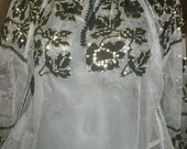 Vintage Romanian embroidered  blouse costume  sequins folk