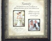 Wedding Frame Parents Wedding Gift Mother of the Bride, Father of the Bride Personalized Frame, FAMILY 16 X 16