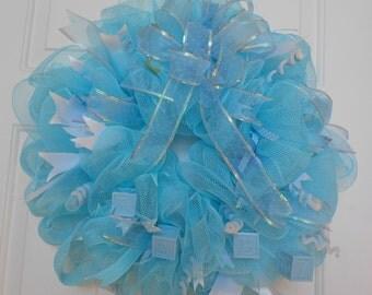 Its a boy wreath, deco mesh baby wreath, boy deco mesh wreath, baby wreath, deco mesh wreaths, boy, baby boy