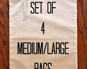 4 Reusable Produce Bags / 2 MEDIUM 2 LARGE / Produce Bags - Grocery Bag, Shopping Bag, Vegetable Bag, Farmers Market, Four bags