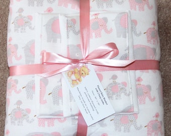Baby Blanket Set with 2 Burp Cloths #1G-773