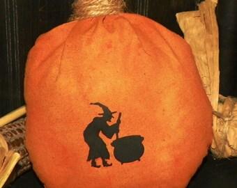 Witch Silhouette Pumpkin