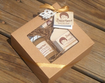 Butterbeer Boxed Set - Soy Candle, Artisan Soap, Lip Balm