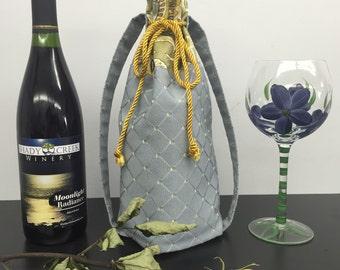 BYOB Wine Bag_Blue/Gold