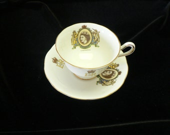Royal Albert Royal Coronation 1954 Queen Elizabeth Bone China Cup and Saucer