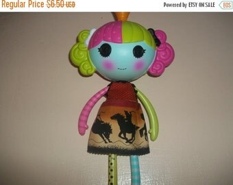 Lalaloopsy Doll Dress handmade browns and blacks with horses
