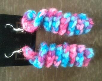Multi-Colored Crochet Earrings