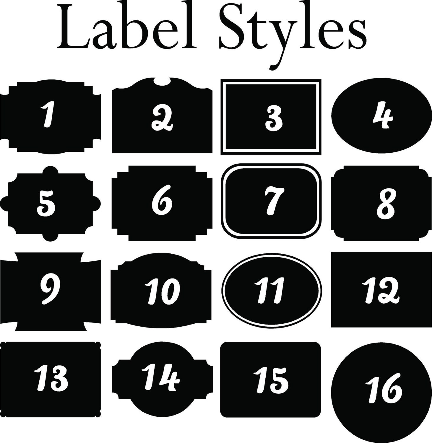 labels for kitchen