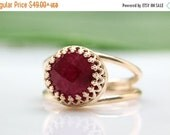 NEW YEARS SALE - delicate ruby ring,gold ring,gemstone ring,July birthstone ring,vintage ring,bridal ring