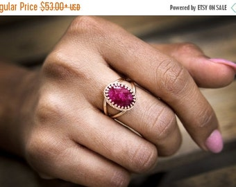 SUMMER SALE - Ruby ring,Rose gold ring,July birthstone,birthday gift,birthday ring,birthstone ring,semi precious ring