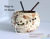Ceramic Yarn Bowl | Ready to Ship | Yarn Bowl | Handmade Ceramic Gift for Knitters