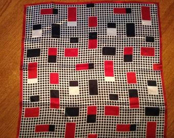 Pretty Talbots Geometric Silk Scarf