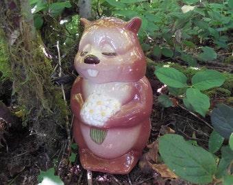 Metlox Bucky Beaver Cookie Jar