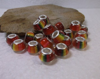 10 European Murano Lampwork Beads