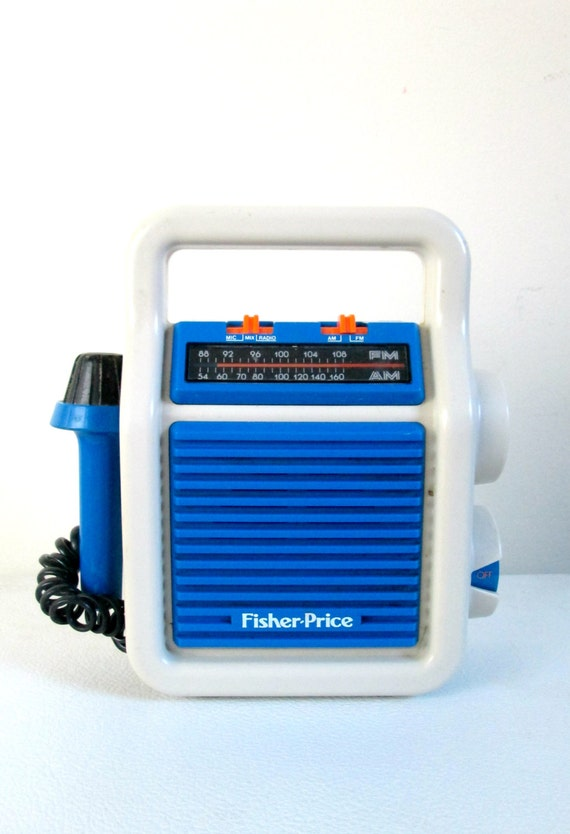 Fisher Price Am Fm Radio With Microphone Vintage 1980s Music
