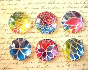 25mm Paint Color Round Glass Magnet, Fridge Magnet, Round