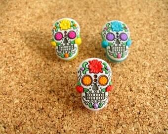 Halloween Skull Thumbtack, Halloween Skull Push Pin , Skull Notice Board Pins, Skull Deco