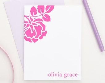 Personalized stationery // Rose stationery // Personalized Thank you cards // Personalized stationary for kids /// Personalized Gift, KS005