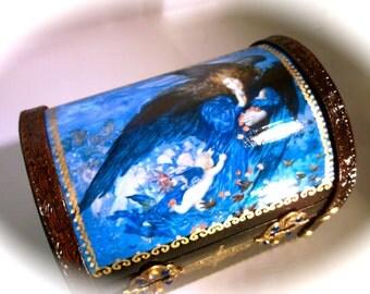 A Night With Her Train Of Stars Treasure Chest Jewelry / Trinket Box / Keepsake Box