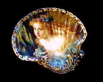 Midsummers Night Dream Shell Jewelry Dish Ring Dish Trinket Dish