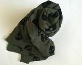 Skull Print Chiffon Fabric