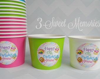 24 Shopkins 12 oz  Snack Cups