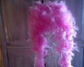 PINK FEATHER BOA, burlesque, party, xmas decor, women, fashion accessories