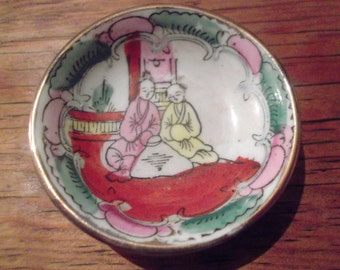 very small ANTIQUE Japanese bowl, handpainted