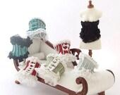 SALE 1/12 SCALE Miniature  Dollhouse Silk Laced Ladies Corset