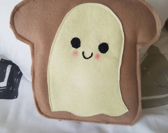 Felt Happy Ghost Toast Plush Toys/Decor - Kawaii Style, Halloween!
