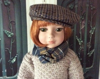 Custom Couture 18 Inch Doll Clothing-Snappy Newsboy Cap Will Fit Dolls Like Robert Tonner's My Imagination™