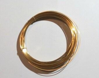 5 Feet 22ga Gold-Filled Wire - Round, Half-Hard