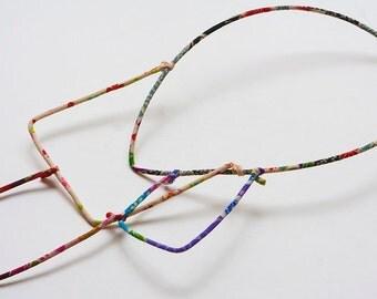 Geometrical japanese fabric necklace