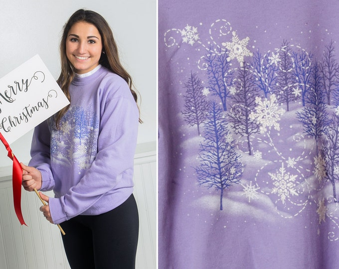 Medium Purple Winter Vintage Sweatshirt | 16X